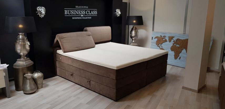 Boxspringbett Roma 200x200 cm, verstellbares Kopfteil, Bettkastenfunktion