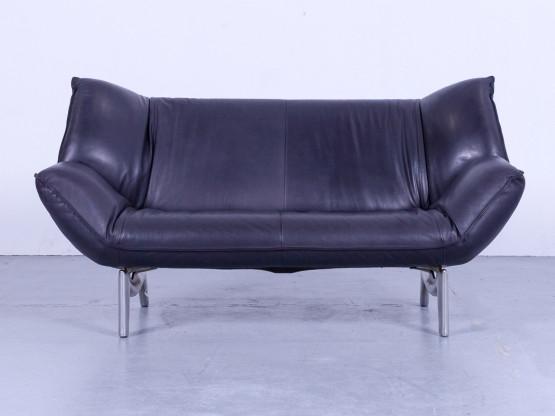 Leolux Tango Designer Leder Sofa Violet Zweisitzer Funktion Couch