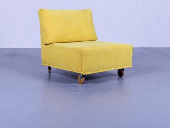 Brühl & Sippold Carousel Designer Stoff Sessel Gelb Einsitzer Couch #5274