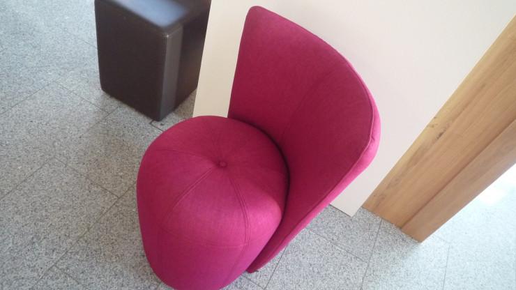 Signet Sessel Zapallo, Stoff Mona pink