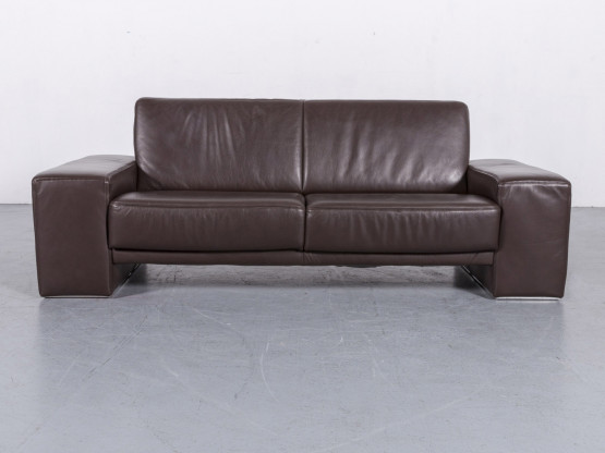 Koinor Nove Desigher Leder Sofa Braun Dreisitzer Echtleder Couch #6095