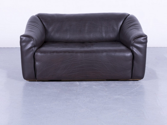 de Sede DS 47 Leder Sofa Braun Zweisitzer Couch Funktion Echtleder #5709