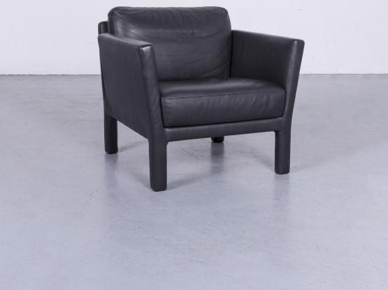Wittmann Ella Designer Sessel Leder Einsitzer Schwarz Couch Modern Echtleder #5522