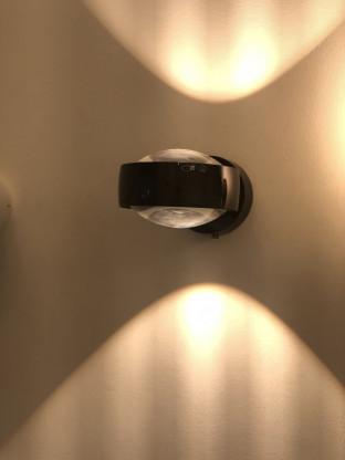 Occhio Sento LED Wandleuchte schwarz glanz