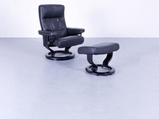 Ekornes Stressless Memphis Relax Sessel & Hocker Leder Größe M Funktion Einsitzer Echtleder Modern
