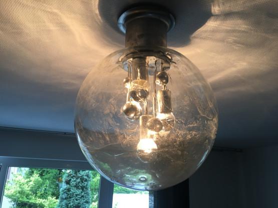 Original Space Age Sputnik Kugelleuchte von Doria, 70er Jahre