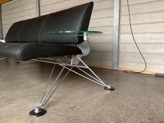 Ledersofa, schwarz   Designermöbel Ibbenbüren