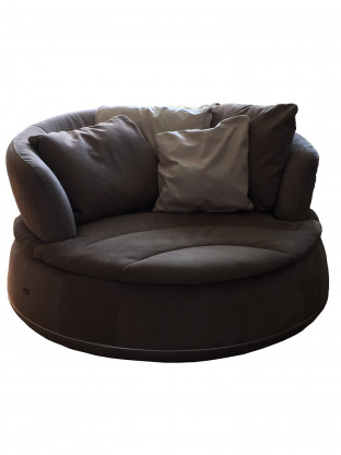 NIERI rundes Sofa in beige | Designermöbel Grafschaft – Bölingen