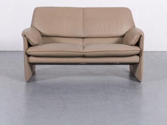 Leolux Bora Designer Leder Sofa Zweisitzer Echtleder Couch #6074
