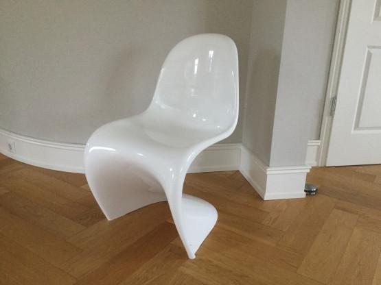 Neuer Vitra Panton Chair Weiss Glänzend Designermöbel Wickede