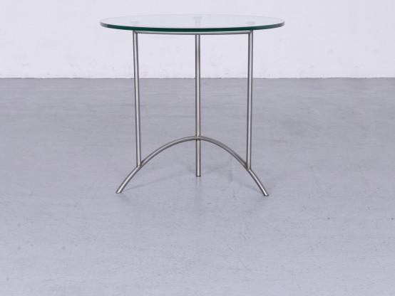 Ronald Schmitt Designer Glas Tisch Silber Couchtisch #6393