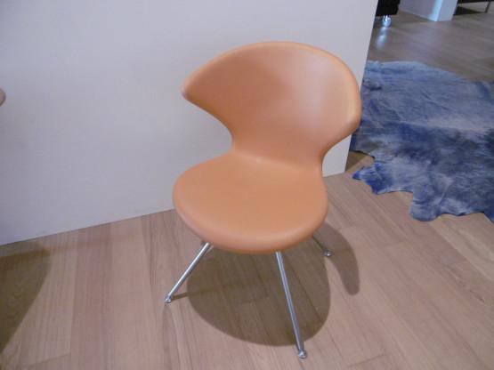 Tonon Stuhl Concept 902 01 Integralschaum Orange Stahl Chrom Matt Designermobel Hohentengen
