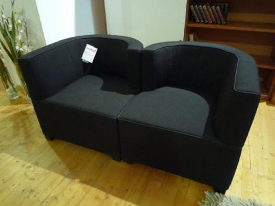 Brühl Sessel Jo in Stoff schwarz