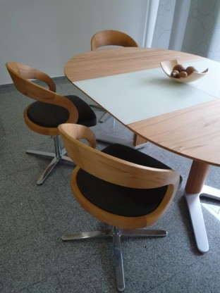 team 7 stuhl girado mit holzlehne designerm bel hohentengen. Black Bedroom Furniture Sets. Home Design Ideas