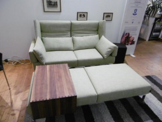 Brühl Sofa On Tour mit Bank und Tisch in Stoff