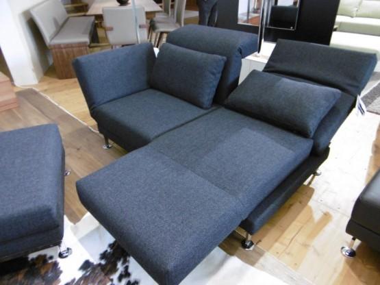 Brühl Sofa Moule 2-Sitzer in Stoff anthrazit