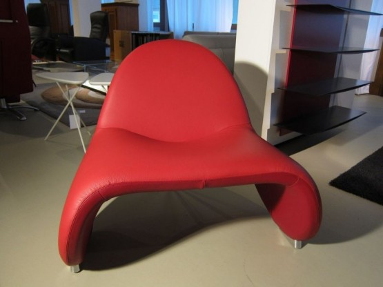 Sella Sessel, Leder rot von Leolux