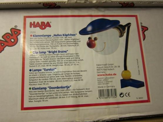 Klemmlampe Helles Köpfchen von Haba