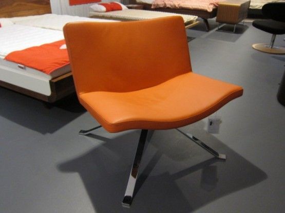 Sessel Wave, Leder orange von Tonon