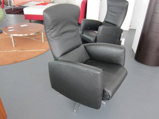 Relaxsessel Supino, Leder schwarz von Jori