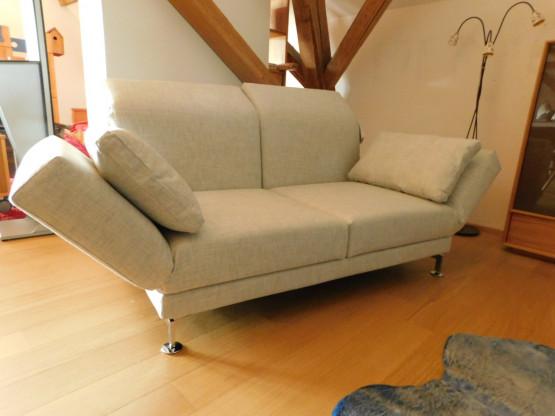 Brühl Sofa moule 2-Sitzer in Stoff natur