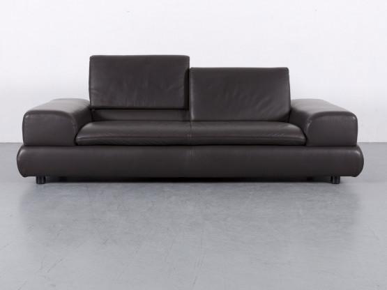 Koinor Designer Leder Sofa Braun Dreisitzer Couch Funktion Echtleder #6002