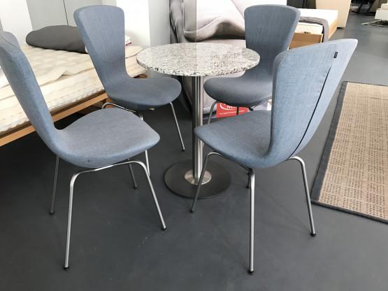 4 Invite Stühle, Stoff blau von Variér