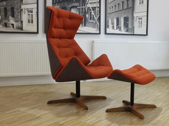 Lounge Sessel Thonet 808 in orange