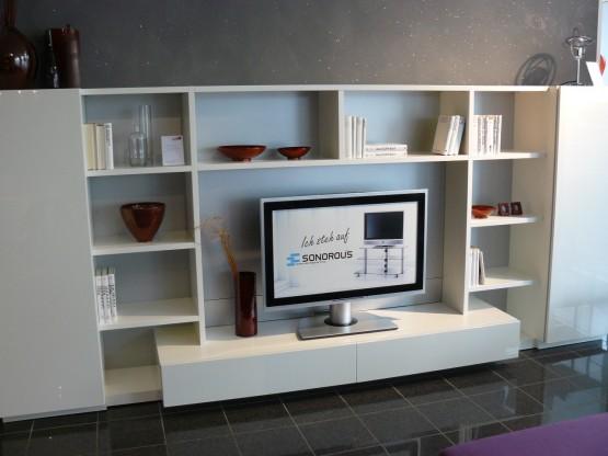 Perfekte Systemwand für TV und mehr vom WK