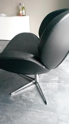 Boconcept Schelly Moderner Sessel Schwarzes Leder Stahl