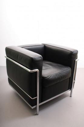 Cassina Sessel LC 2 schwarz