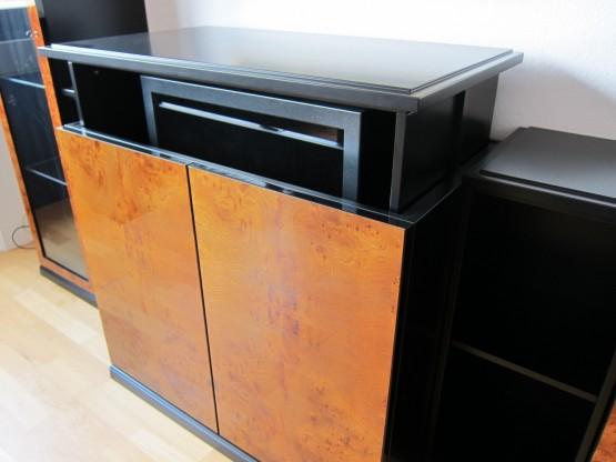schrankwand stratos exclusiv von tr ggelmann wurzelholz. Black Bedroom Furniture Sets. Home Design Ideas