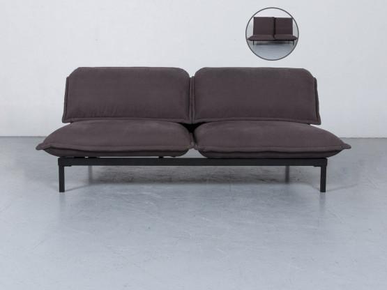 Rolf Benz Nova Designer Stoff Sofa Grau Dreisitzer Couch Funktion #6063