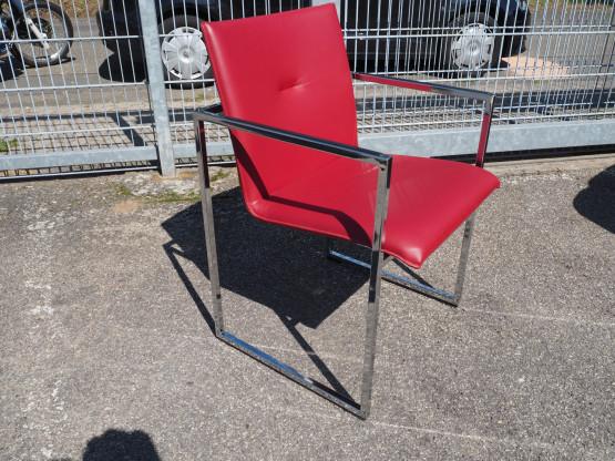 ARCO Stuhl Frame XL Leder rot - NEU!