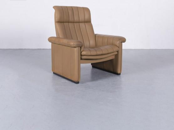 de Sede Leder Sessel Cognac Braun Einsitzer Relaxfunktion Anilinleder #5986