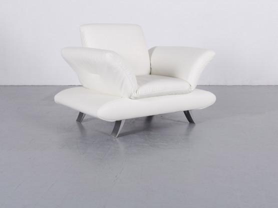 Koinor Rossini Leder Sessel Weiß Einsitzer Stuhl Funktion Echtleder
