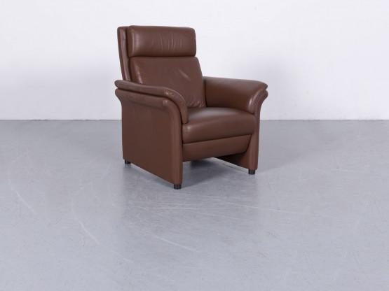 Erpo Designer Leder Sessel Braun Einsitzer Stuhl Echtleder #5970