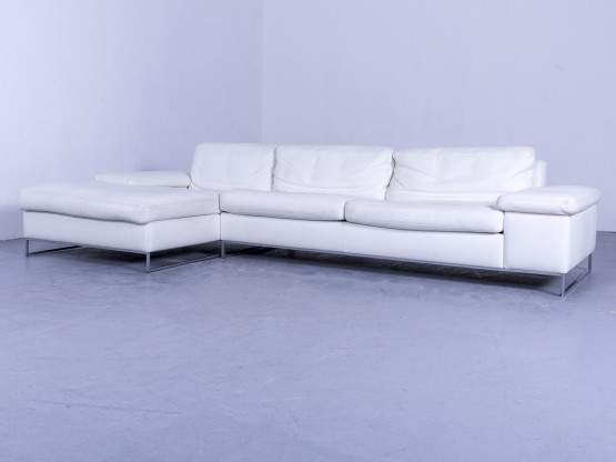 Ecksofa Designer | Machalke Designer Leder Ecksofa Weiss Echtleder Couch 5008