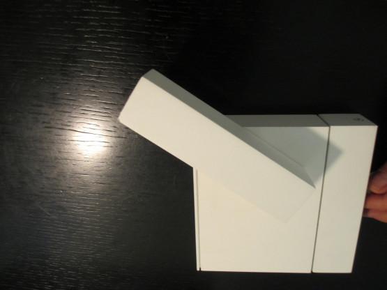Minimaled Pure White Aufbaustrahler von Türmer