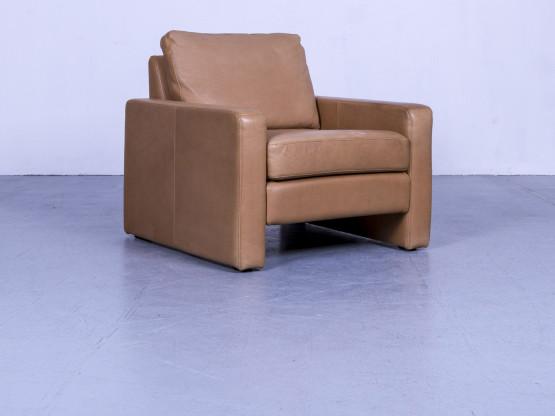 Cor Conseta Designer Anilin Leder Sessel Braun Einsitzer Stuhl #5387