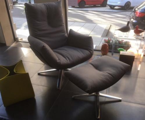 Drehsessel Mit Hocker Cordia Lounge Designermöbel Saarlouis