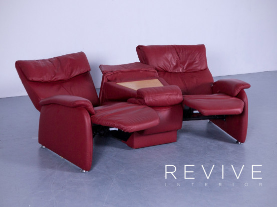 Affordable Himolla Trapez Sofa Designer Relax Sofa Rot Leder Funktions  Dreisitzer Couch Echtleder Kino Tv Kln Lvenich With Relax Sofa Himolla