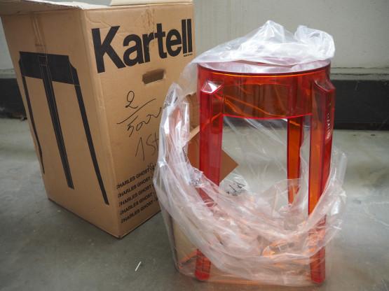 KARTELL Hocker Charles Ghost orangerot - neu!