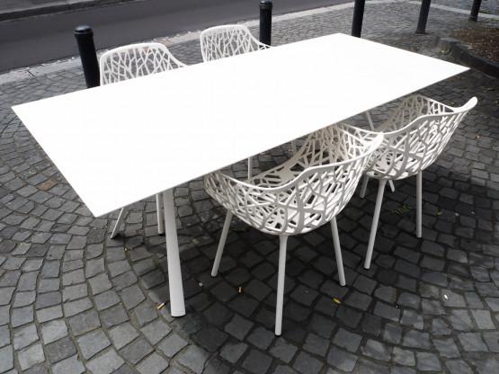 FAST Tisch Stuhl Forest creme weiß
