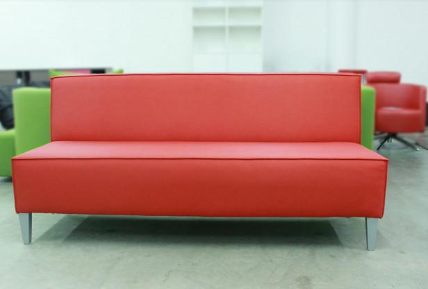 Sitzbank LOGIC Kunstleder rot