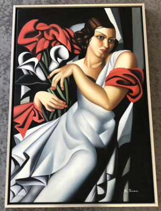 Copy Öl-Gemälde auf Leinwand 96x66 cm - Portrait of Mrs Ira P