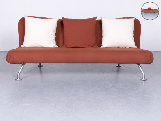 Brühl & Sippold more Designer Stoff Sofa Braun Schlafsofa Funktion Couch #6425