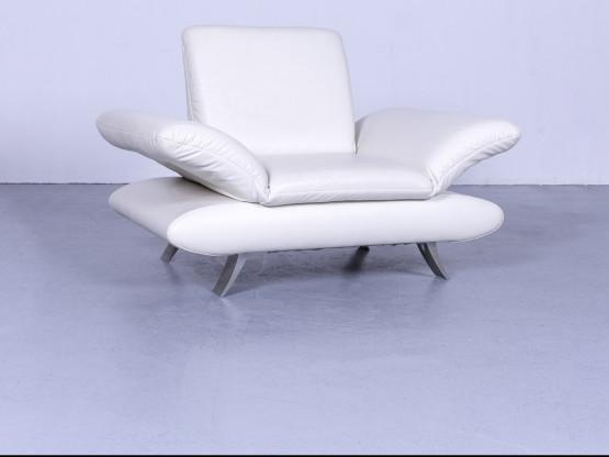 Koinor Rossini Designer Leder Sessel Weiß Einsitzer Echtleder Funktion #5510