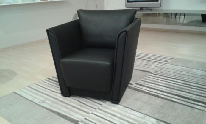 loom sessel accente cebu in schwarzem leder designerm bel hameln. Black Bedroom Furniture Sets. Home Design Ideas