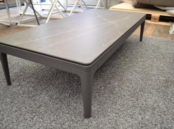 Gartentisch Niedrig Grid Gloster Anthrazit Aluminium Keramik